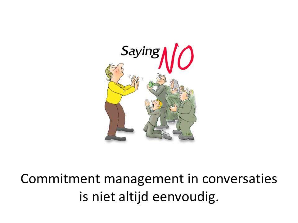 Commitment management in conversaties is niet altijd eenvoudig.