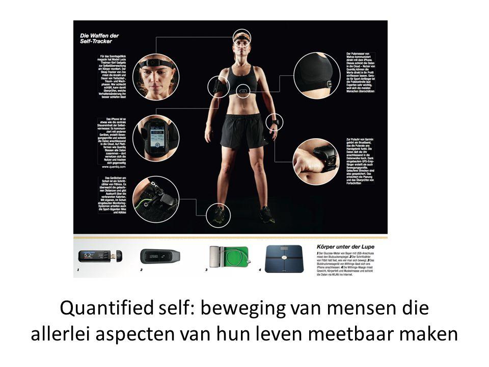 Quantified self: beweging van mensen die allerlei aspecten van hun leven meetbaar maken