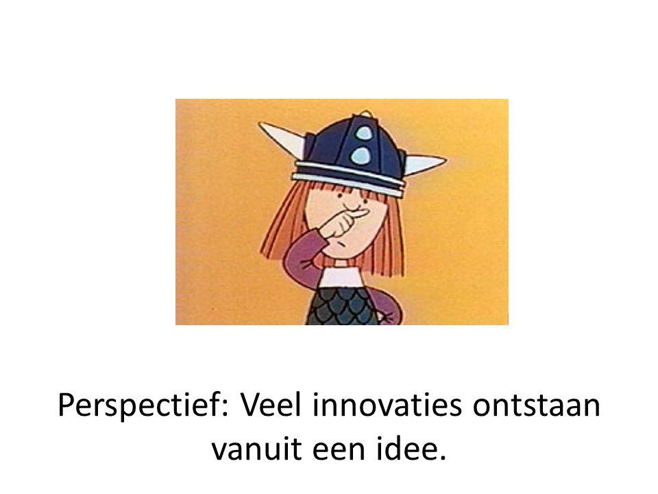 Perspectief: Veel innovaties ontstaan vanuit een idee.