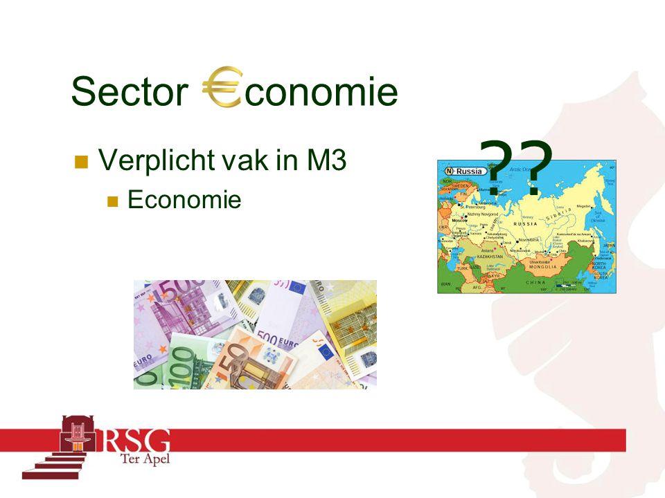 Sector conomie Verplicht vak in M3 Economie ??