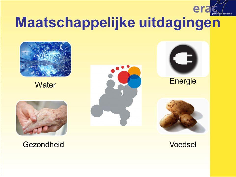Maatschappelijke uitdagingen Water Energie VoedselGezondheid