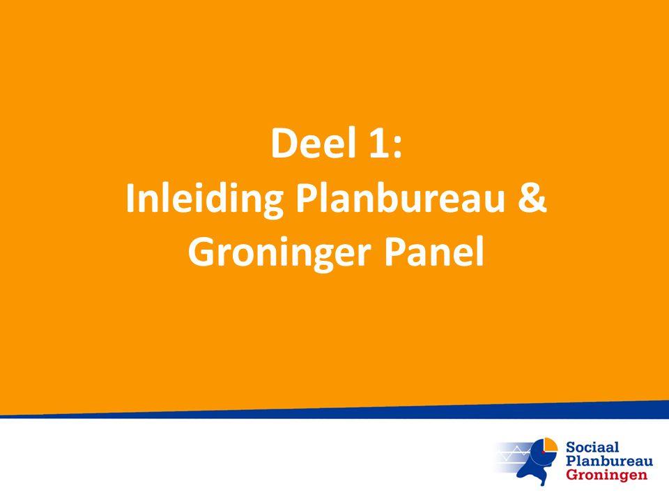 Deel 1: Inleiding Planbureau & Groninger Panel