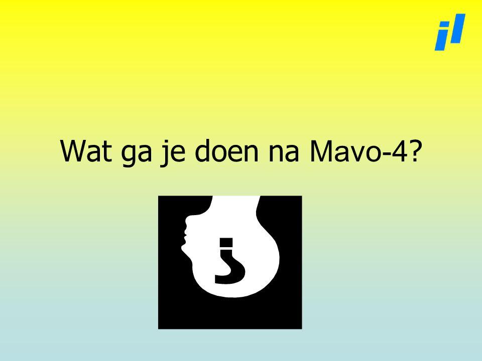 Wat ga je doen na Mavo-4 ?