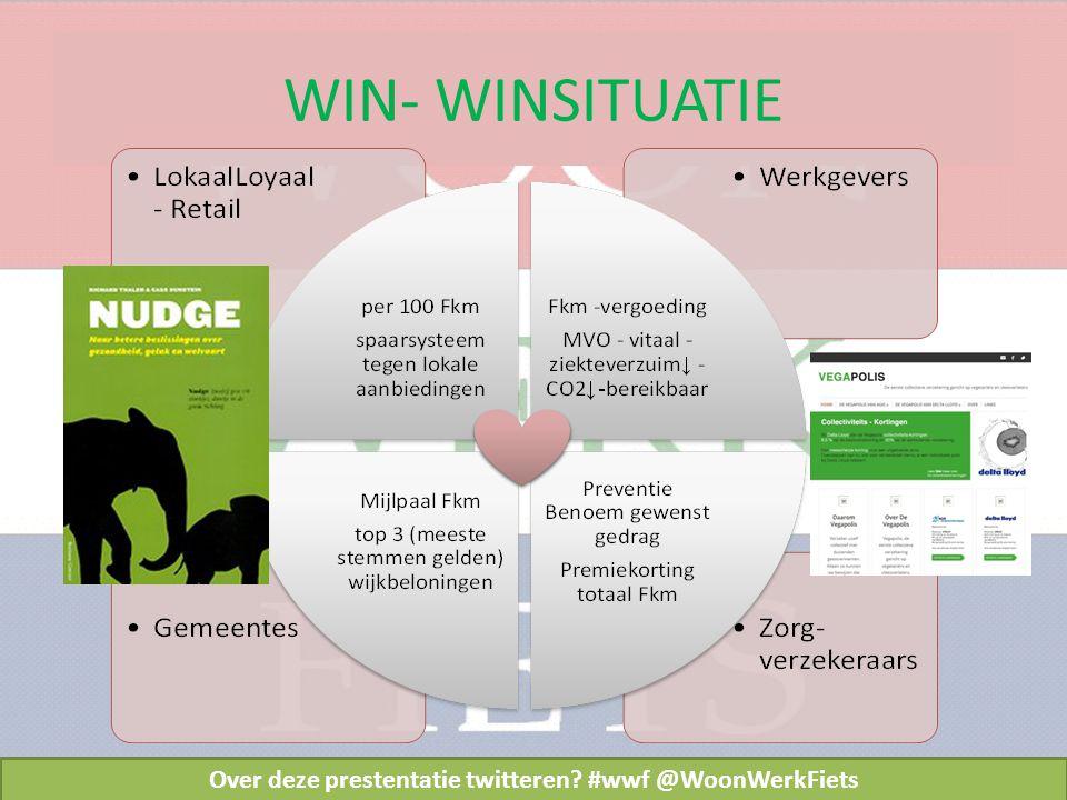 WIN- WINSITUATIE Over deze prestentatie twitteren #wwf @WoonWerkFiets