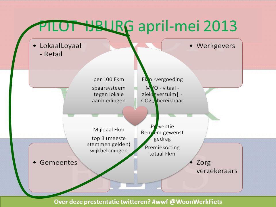 PILOT IJBURG april-mei 2013 Over deze prestentatie twitteren #wwf @WoonWerkFiets