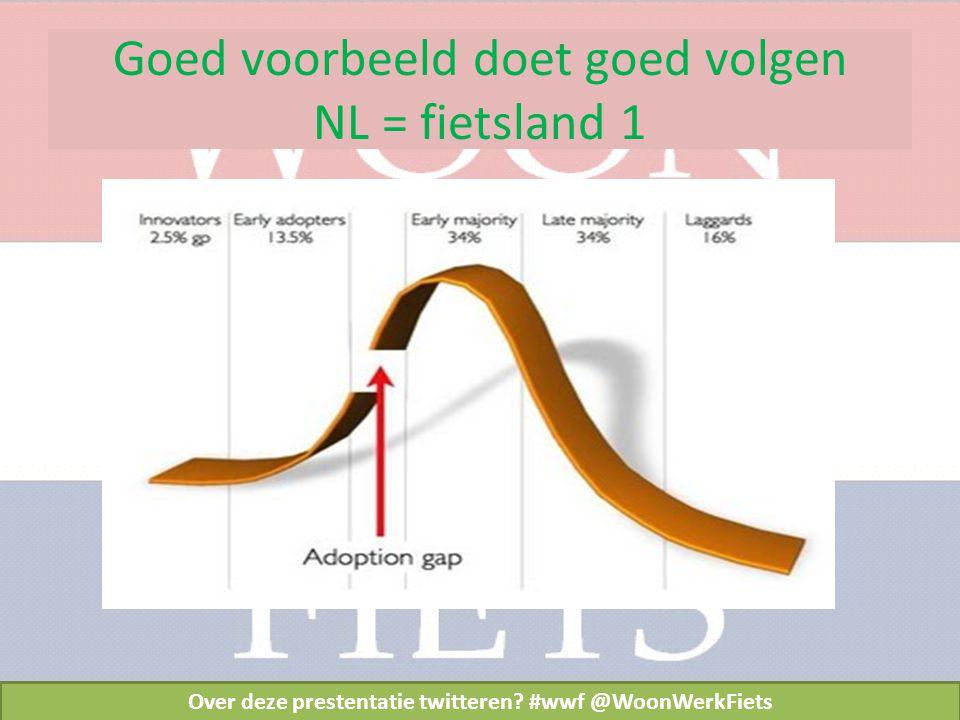 Goed voorbeeld doet goed volgen NL = fietsland 1 Over deze prestentatie twitteren.