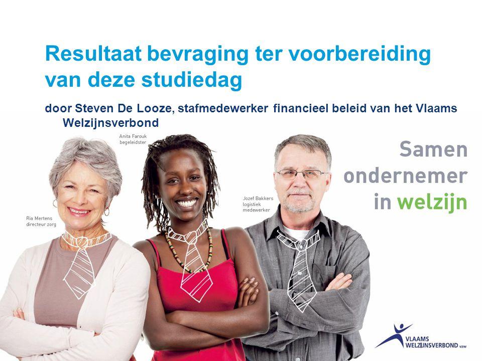 1 Resultaat bevraging ter voorbereiding van deze studiedag door Steven De Looze, stafmedewerker financieel beleid van het Vlaams Welzijnsverbond
