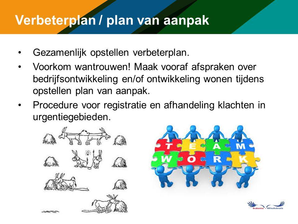 Verbeterplan / plan van aanpak Gezamenlijk opstellen verbeterplan.