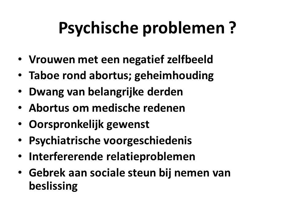 Psychische problemen .