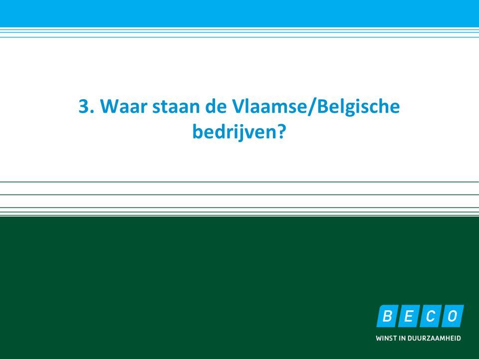 3. Waar staan de Vlaamse/Belgische bedrijven