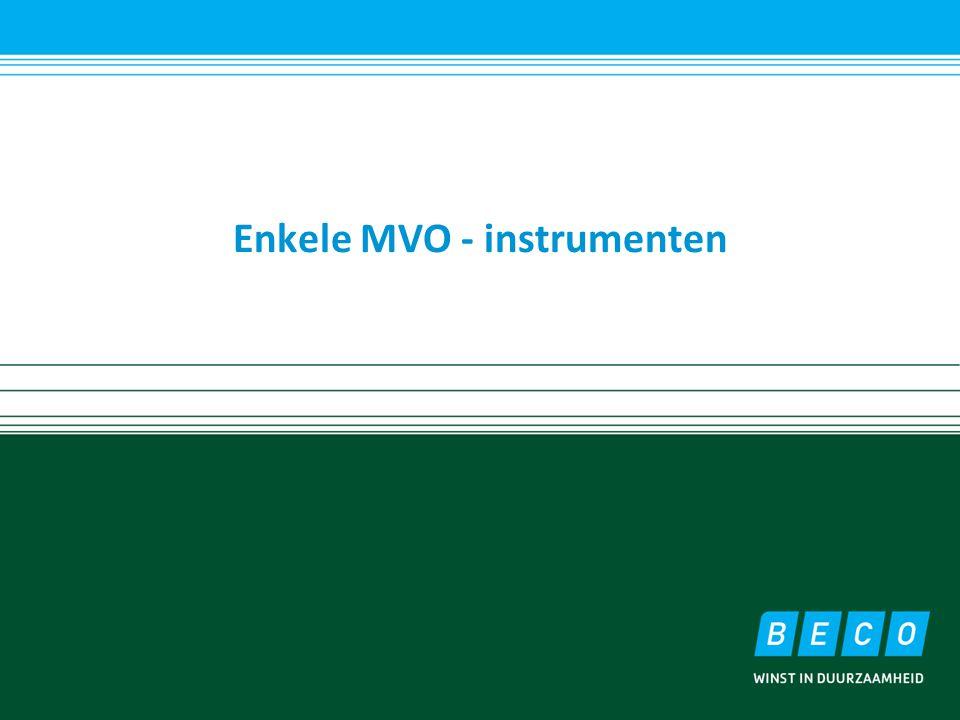 Enkele MVO - instrumenten
