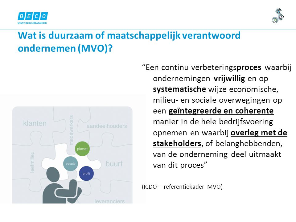 Wat is duurzaam of maatschappelijk verantwoord ondernemen (MVO).