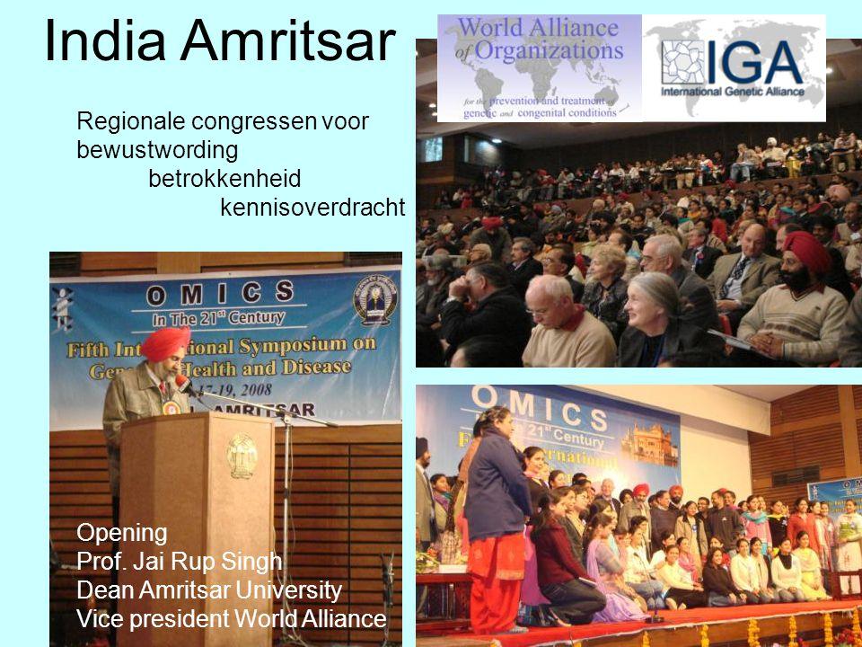India, Amritsar India Amritsar Opening Prof. Jai Rup Singh Dean Amritsar University Vice president World Alliance Regionale congressen voor bewustword