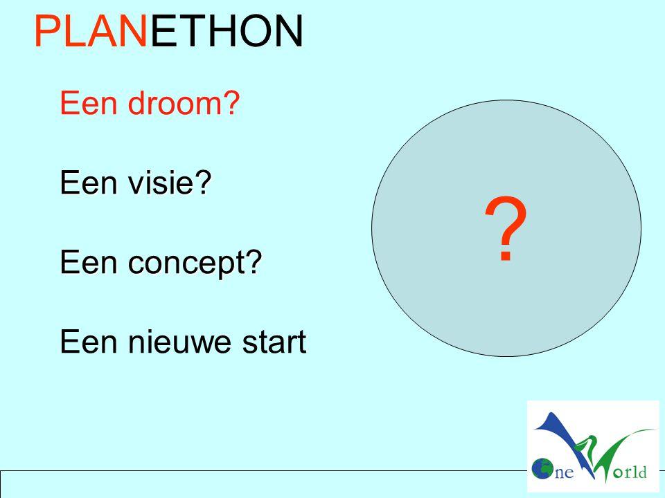 PLANETHON Een droom? Een visie? Een concept? Een nieuwe start ?