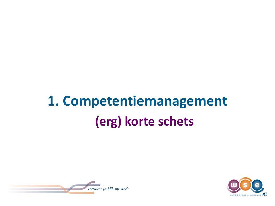 1. Competentiemanagement (erg) korte schets