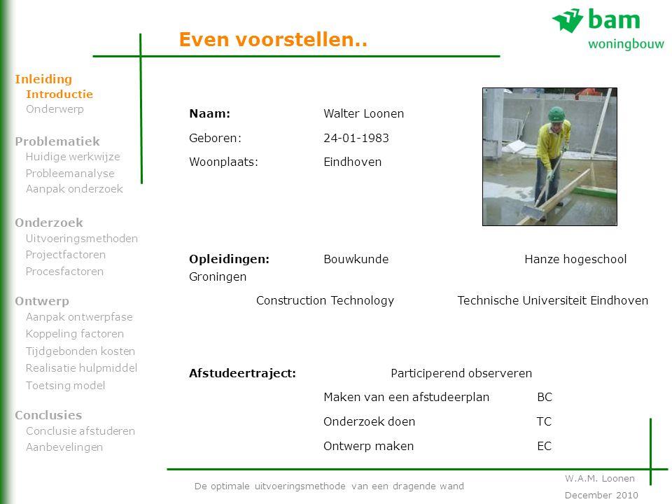Naam: Walter Loonen Geboren:24-01-1983 Woonplaats:Eindhoven Opleidingen:Bouwkunde Hanze hogeschool Groningen Construction Technology Technische Univer