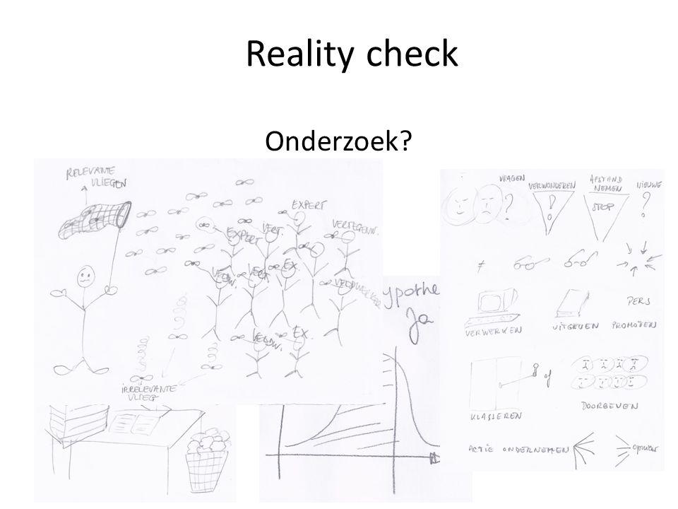 Onderzoek? Reality check