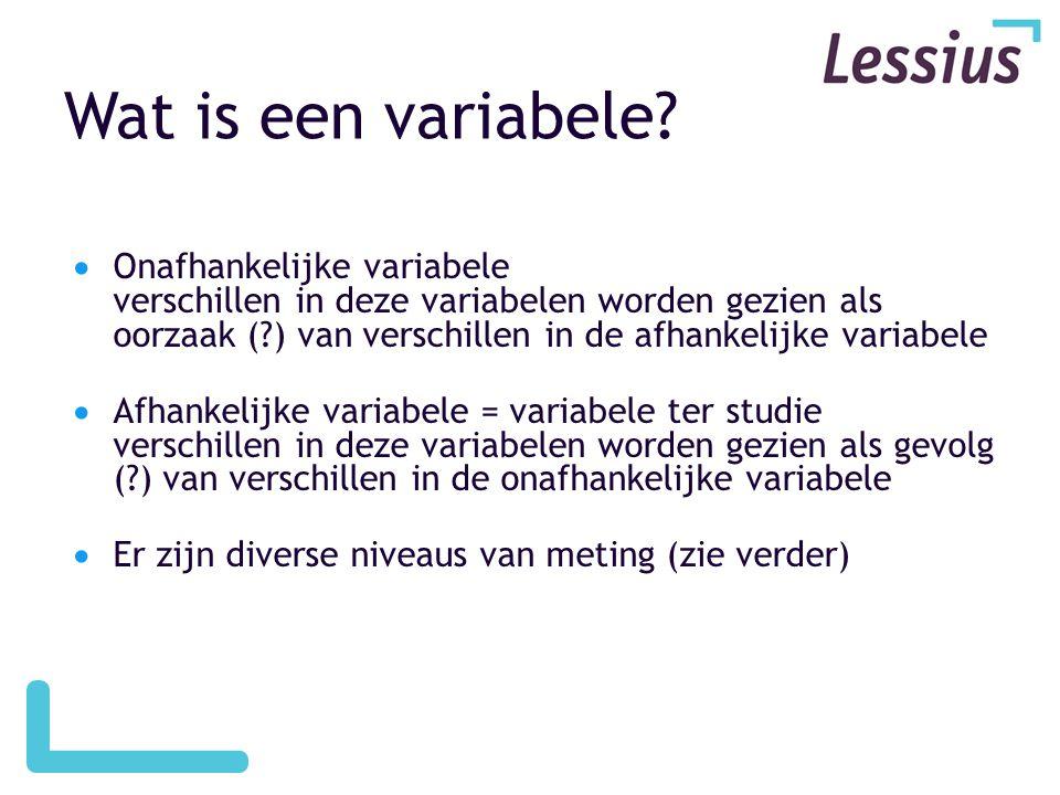 Wat is een variabele.