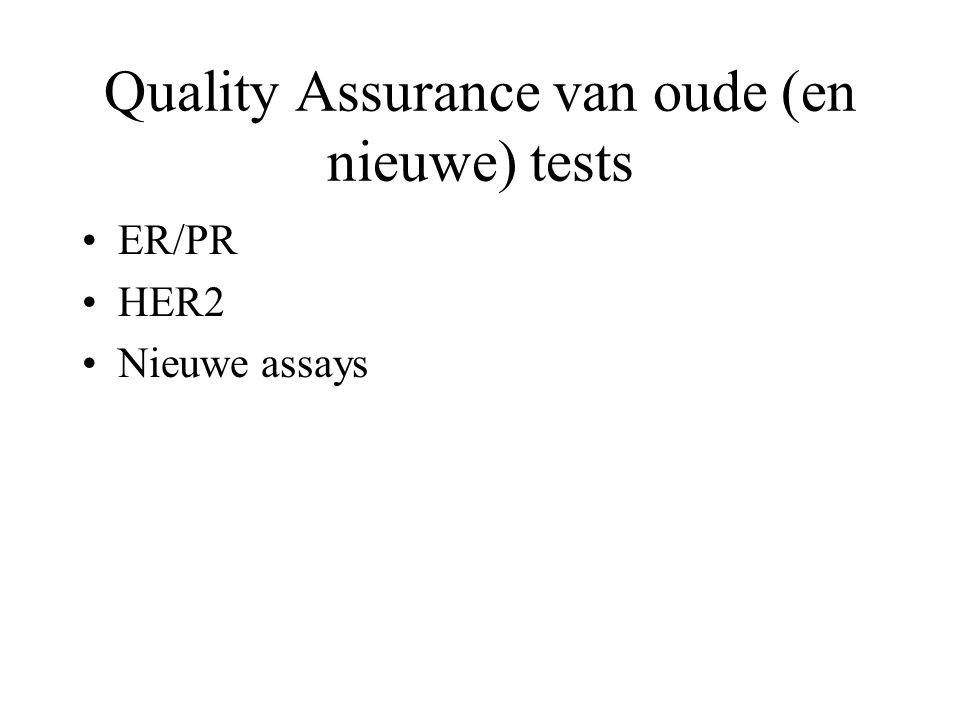 Quality Assurance van oude (en nieuwe) tests ER/PR HER2 Nieuwe assays