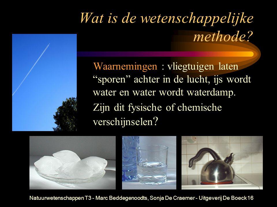 Natuurwetenschappen T3 - Marc Beddegenoodts, Sonja De Craemer - Uitgeverij De Boeck16 Wat is de wetenschappelijke methode? Waarnemingen : vliegtuigen