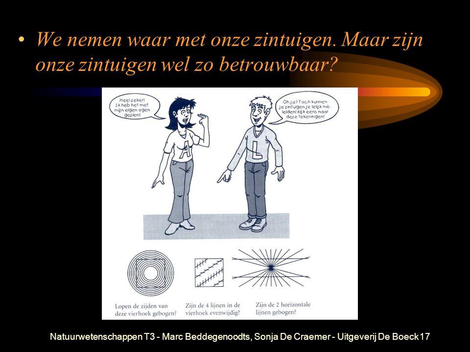 Natuurwetenschappen T3 - Marc Beddegenoodts, Sonja De Craemer - Uitgeverij De Boeck17 We nemen waar met onze zintuigen. Maar zijn onze zintuigen wel z