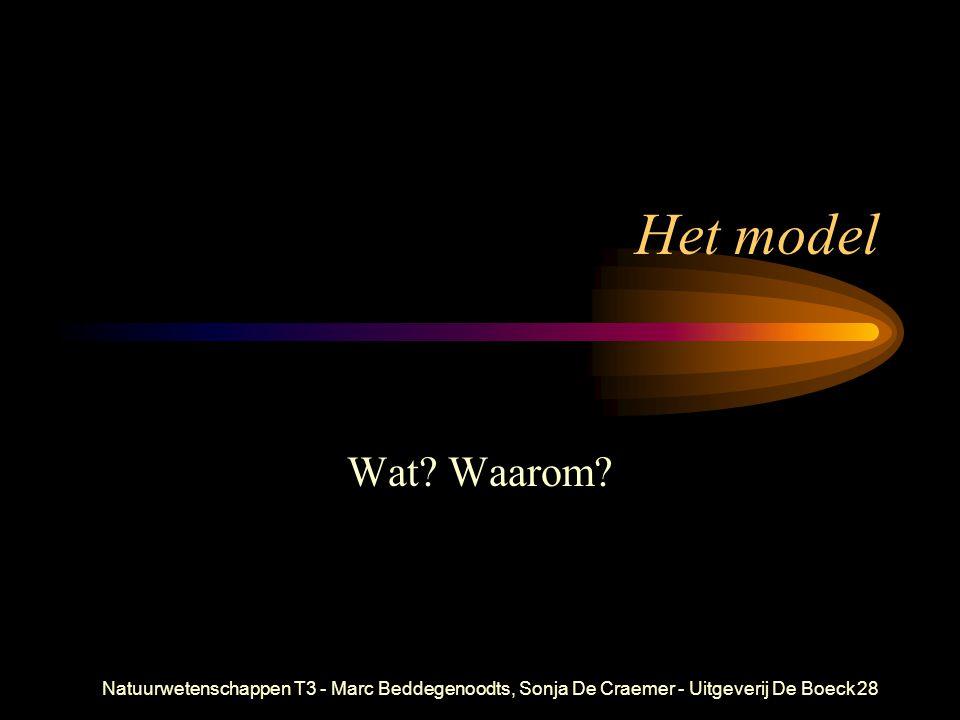 Natuurwetenschappen T3 - Marc Beddegenoodts, Sonja De Craemer - Uitgeverij De Boeck28 Het model Wat? Waarom?