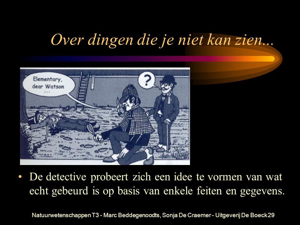Natuurwetenschappen T3 - Marc Beddegenoodts, Sonja De Craemer - Uitgeverij De Boeck29 Over dingen die je niet kan zien... De detective probeert zich e