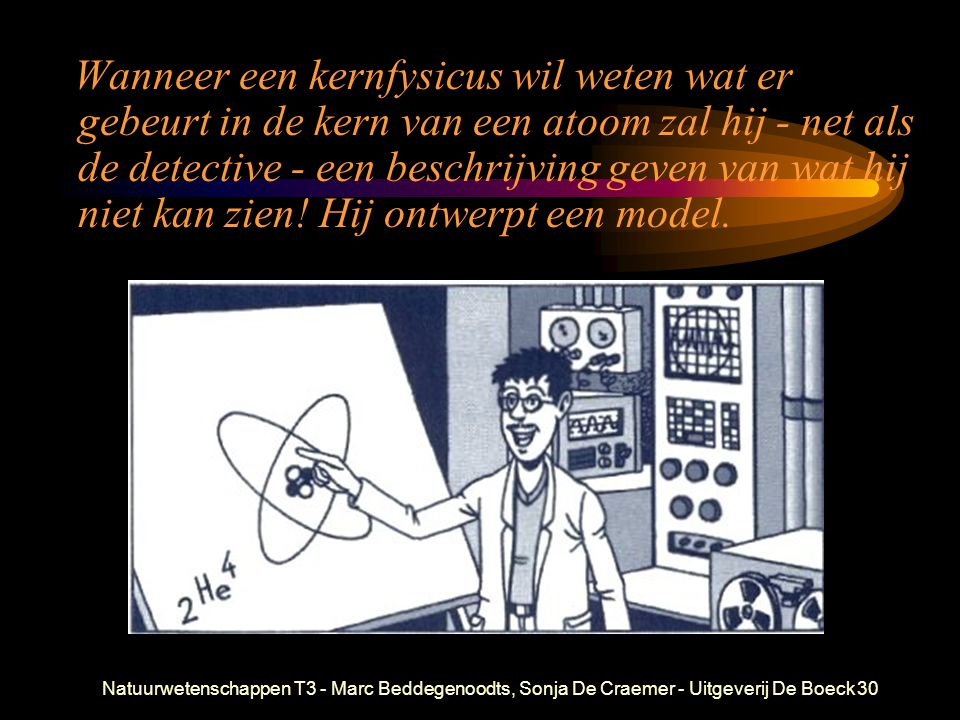 Natuurwetenschappen T3 - Marc Beddegenoodts, Sonja De Craemer - Uitgeverij De Boeck30 Wanneer een kernfysicus wil weten wat er gebeurt in de kern van