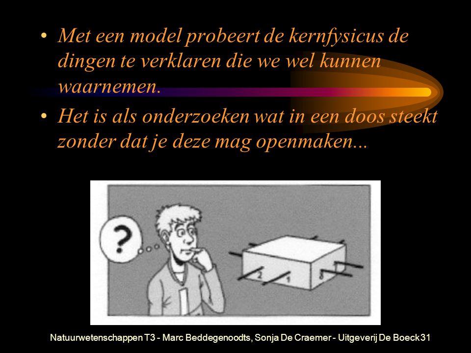 Natuurwetenschappen T3 - Marc Beddegenoodts, Sonja De Craemer - Uitgeverij De Boeck31 Met een model probeert de kernfysicus de dingen te verklaren die
