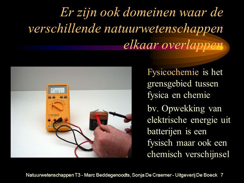 Natuurwetenschappen T3 - Marc Beddegenoodts, Sonja De Craemer - Uitgeverij De Boeck7 Er zijn ook domeinen waar de verschillende natuurwetenschappen el