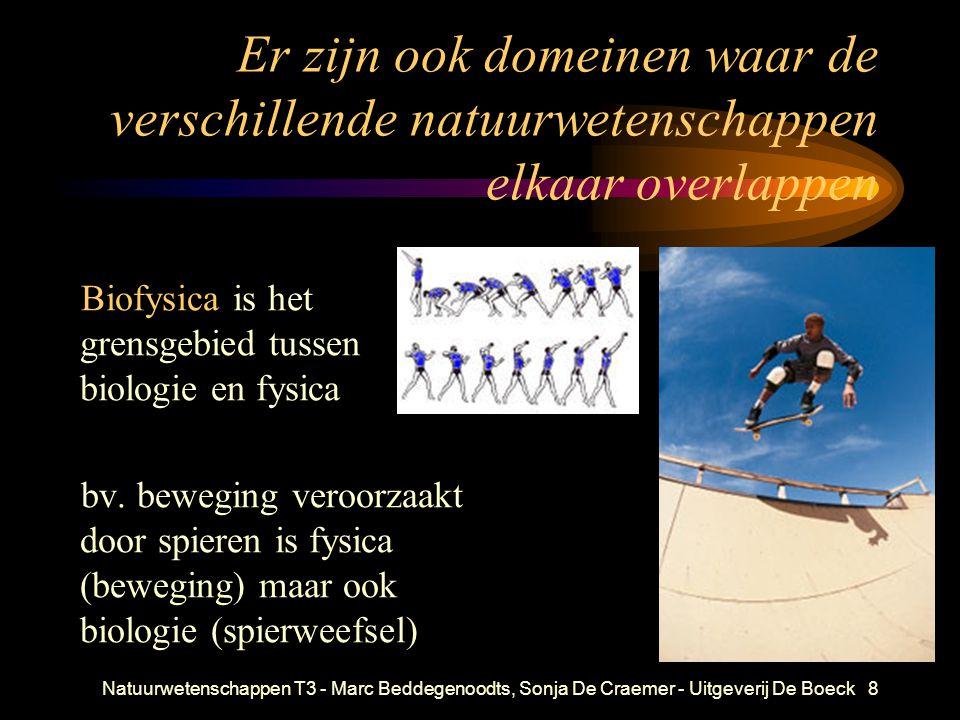 Natuurwetenschappen T3 - Marc Beddegenoodts, Sonja De Craemer - Uitgeverij De Boeck8 Er zijn ook domeinen waar de verschillende natuurwetenschappen el