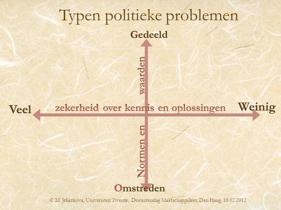 Typen politieke problemen