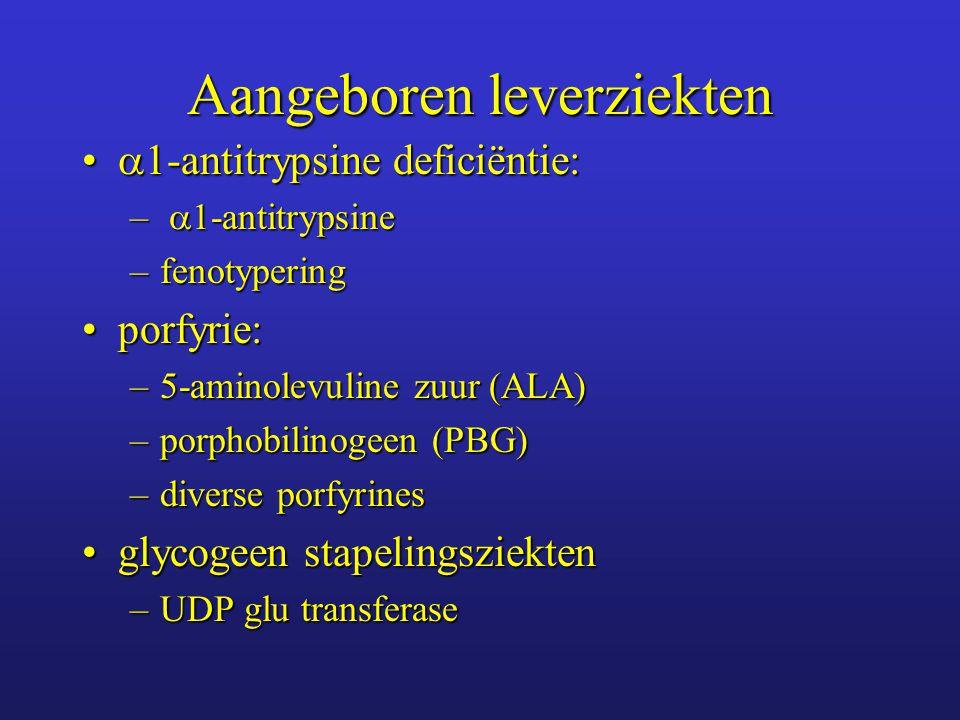Beeldvormende diagnostiek Echografie:Echografie: –leverparenchym: kleur, infiltratie of focale afwijkingen –galwegen: dilatatie, concrementen CT, MRICT, MRI MRCP: diagnostiek galwegafwijkingenMRCP: diagnostiek galwegafwijkingen ERCP: diagnostiek en therapie galwegafwijkingenERCP: diagnostiek en therapie galwegafwijkingen