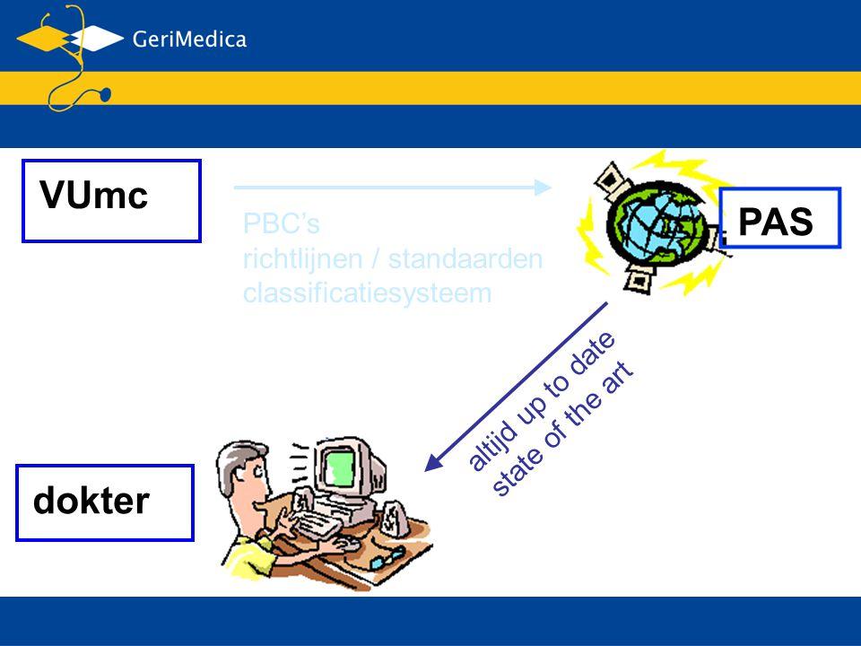 PAS VUmc dokter altijd up to date state of the art PBC's richtlijnen / standaarden classificatiesysteem