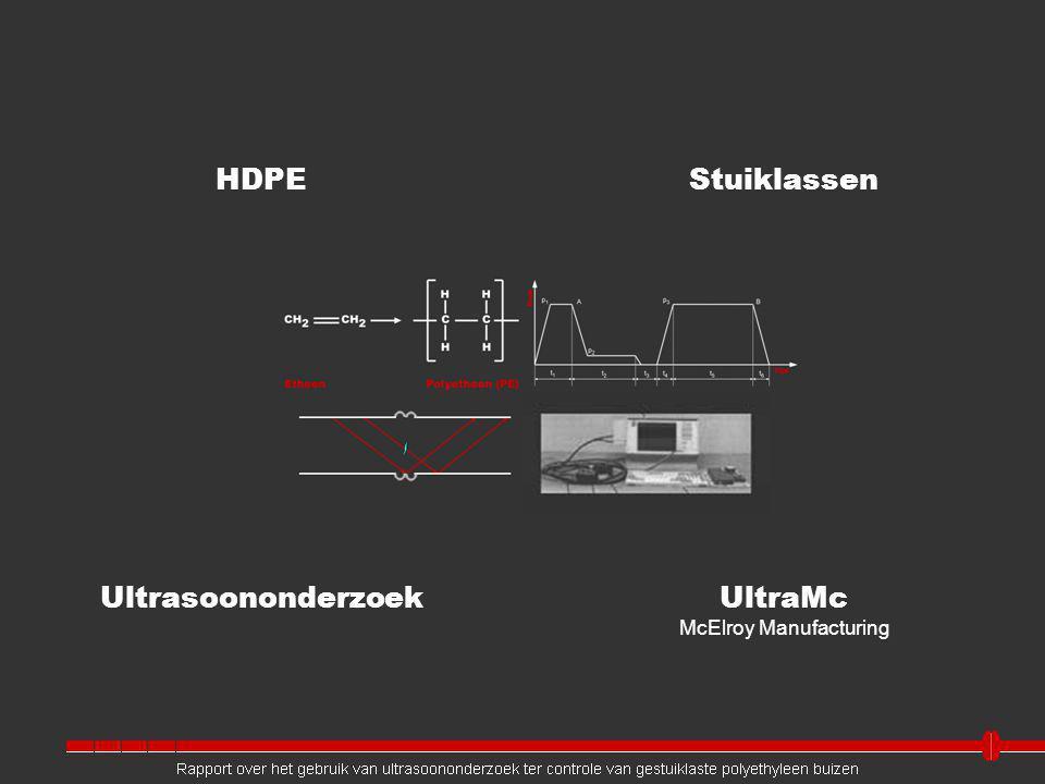 UltraMc McElroy Manufacturing Ultrasoononderzoek HDPE Rapport over het gebruik van ultrasoononderzoek ter controle van gestuiklaste polyethyleen buizen Stuiklassen