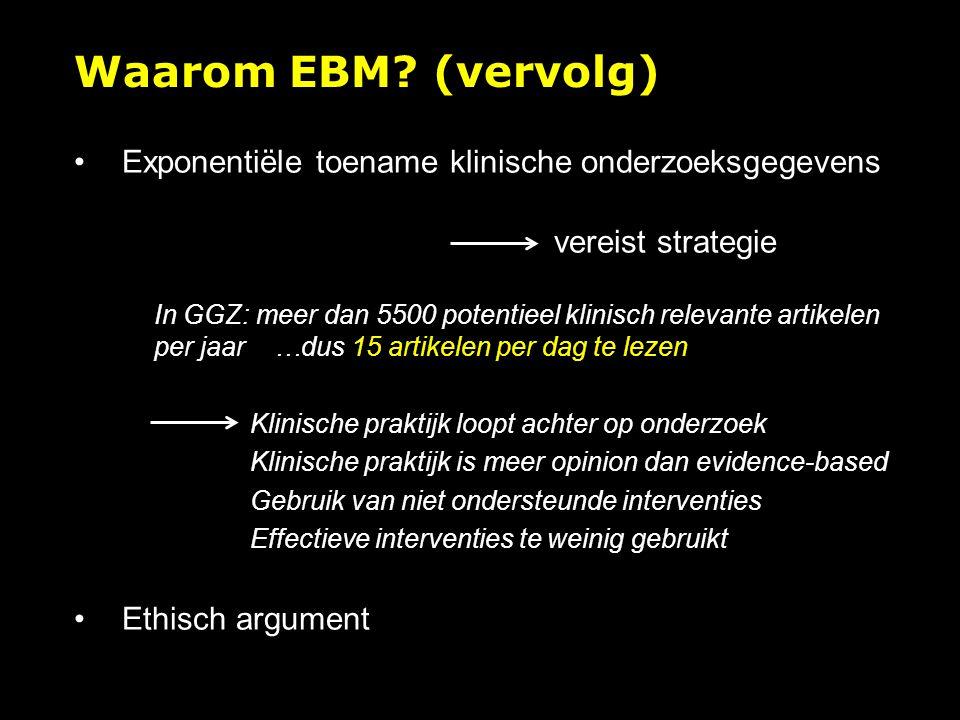 Waarom EBM.