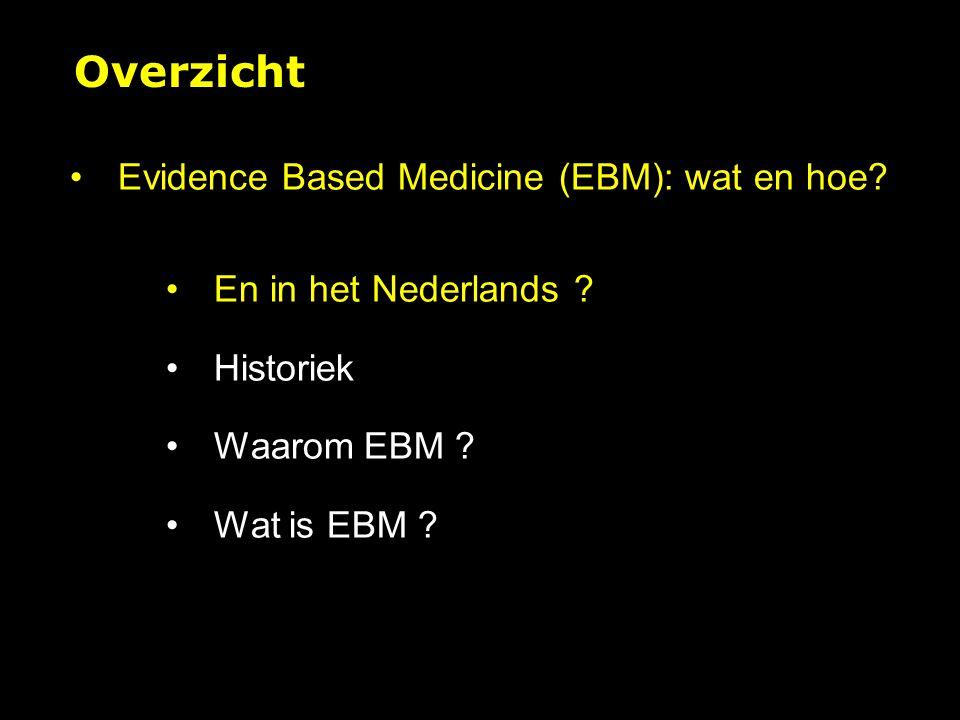 Dogma's en assumpties in EBM 1.Het primaat van de kwantitatieve, experimentele, analytische methode 2.