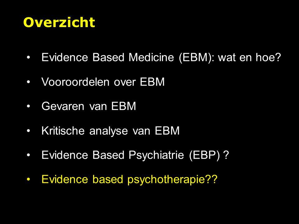 Evidence Based Medicine (EBM): wat en hoe.