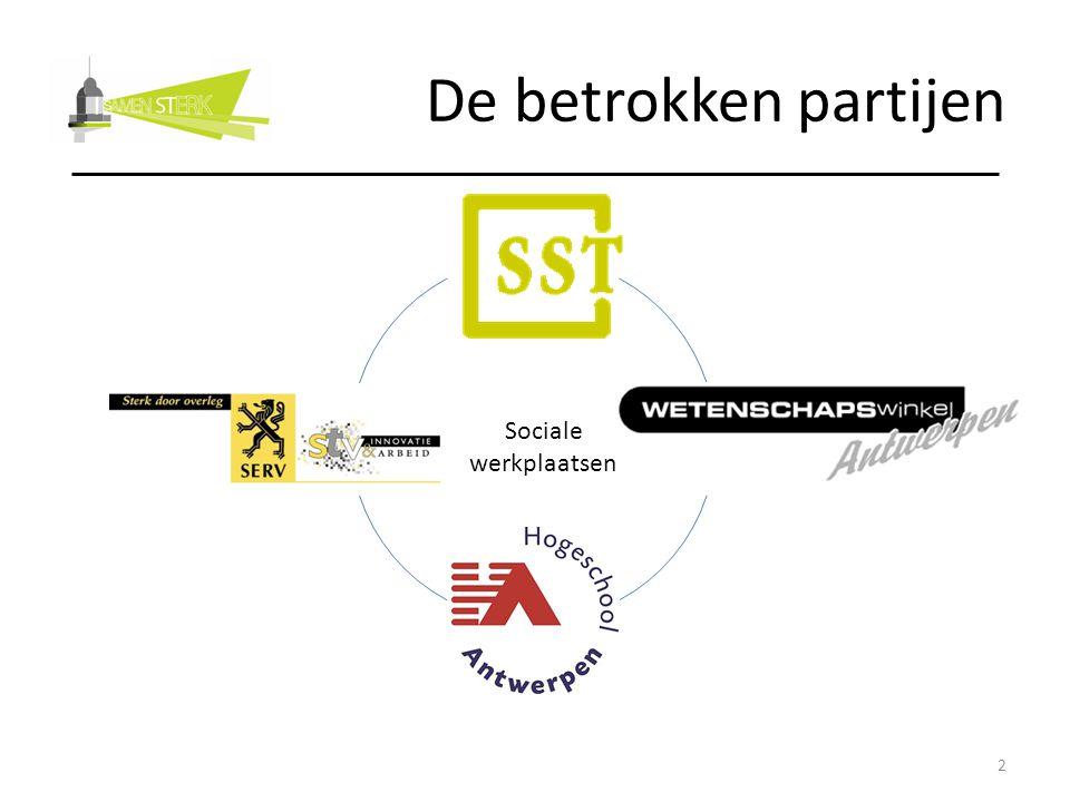 De betrokken partijen Sociale werkplaatsen 2