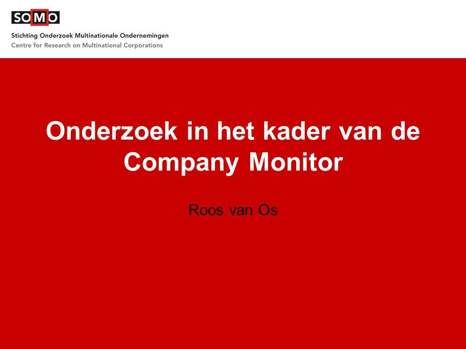 Onderzoek in het kader van de Company Monitor Roos van Os