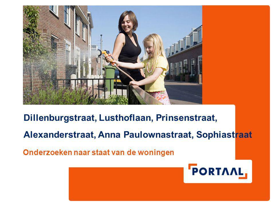 Dillenburgstraat, Lusthoflaan, Prinsenstraat, Alexanderstraat, Anna Paulownastraat, Sophiastraat Onderzoeken naar staat van de woningen