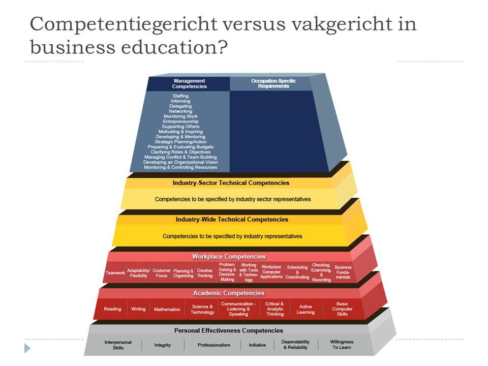 Competentiegericht versus vakgericht in business education?