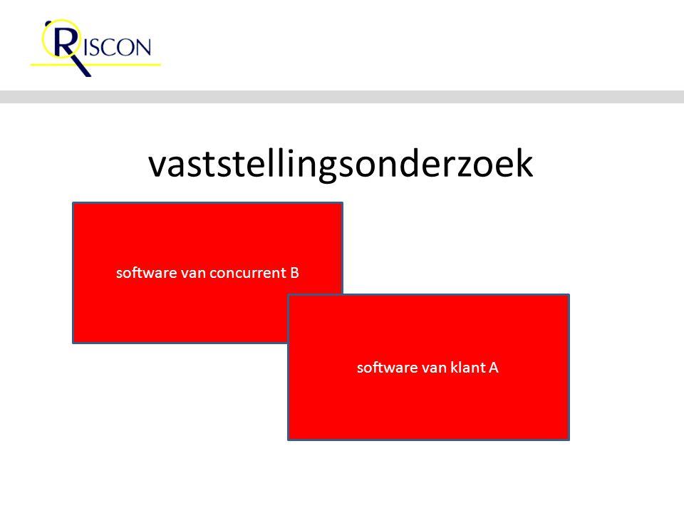 vaststellingsonderzoek software van concurrent B software van klant A