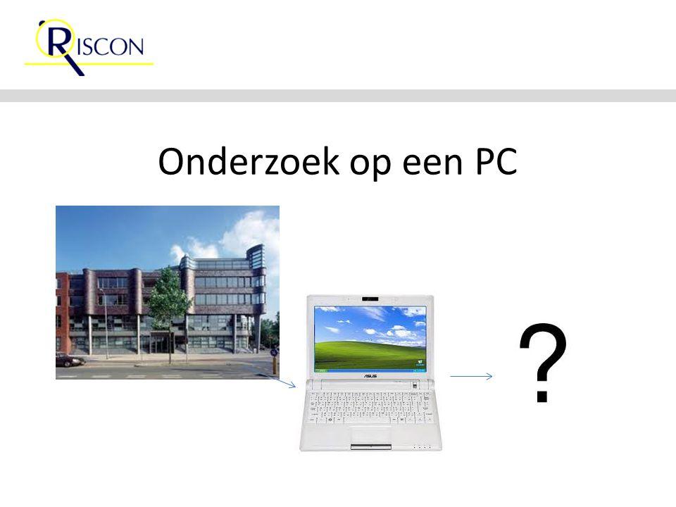 Onderzoek op een PC