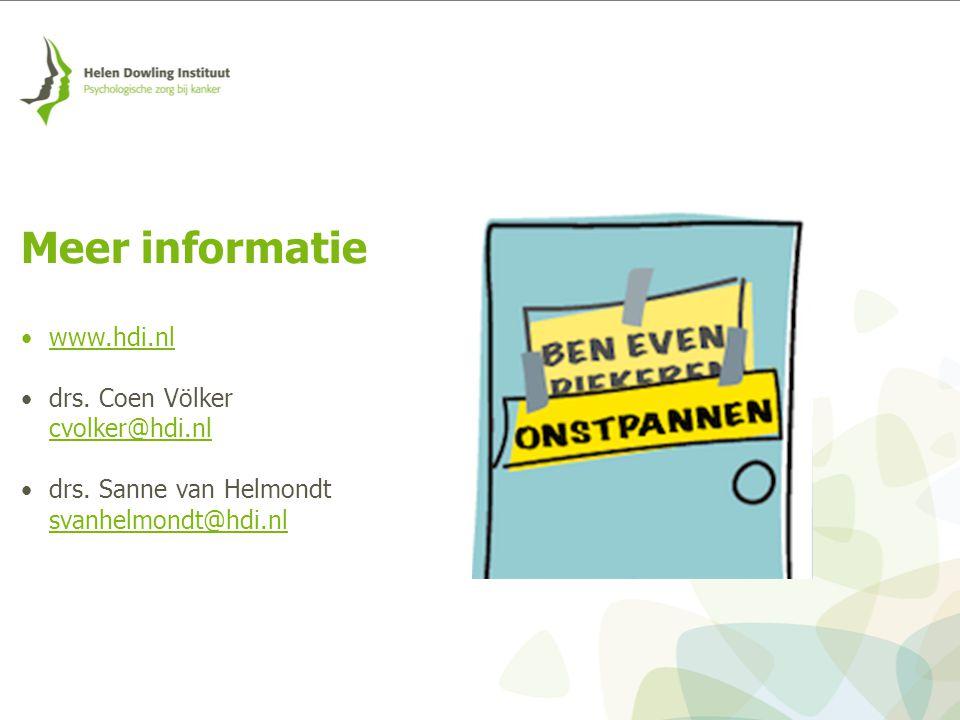 www.hdi.nl drs. Coen Völker cvolker@hdi.nl drs. Sanne van Helmondt svanhelmondt@hdi.nl Meer informatie