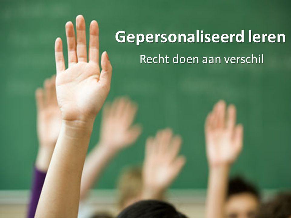 Gepersonaliseerd leren Recht doen aan verschil
