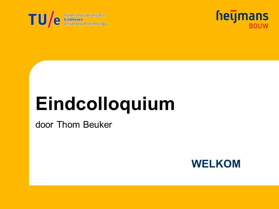 Eindcolloquium door Thom Beuker WELKOM