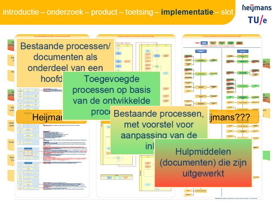 28 HeijmansThomHeijmans??? introductie – onderzoek – product – toetsing – implementatie – slot