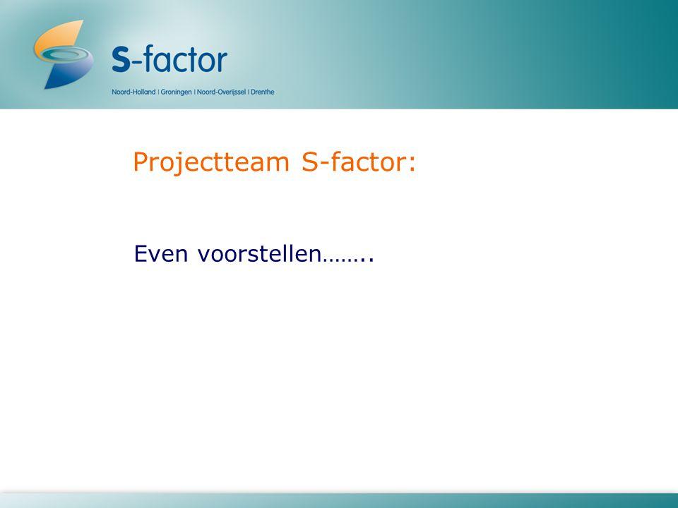 Projectteam S-factor: Even voorstellen……..