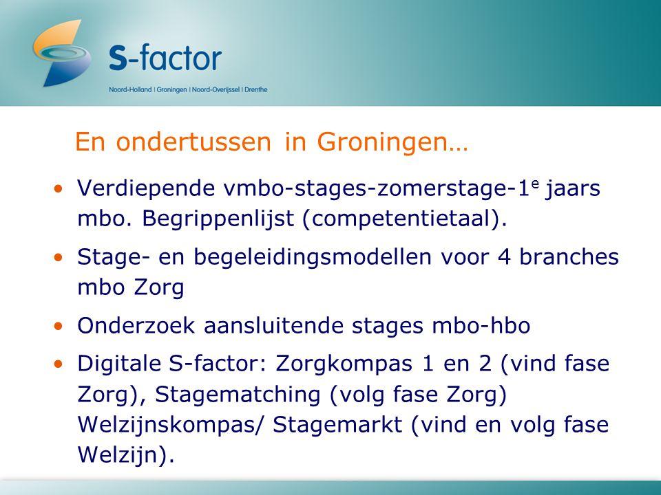 En ondertussen in Groningen… Verdiepende vmbo-stages-zomerstage-1 e jaars mbo. Begrippenlijst (competentietaal). Stage- en begeleidingsmodellen voor 4